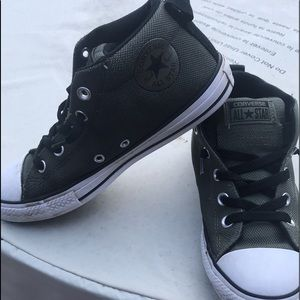 Youth Converse athletic shoes.   Smoke free home
